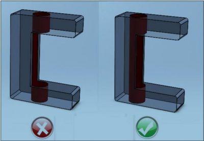 5-تداخل سوراخ با حفره های داخلی (سوراخکاری در کتیا)