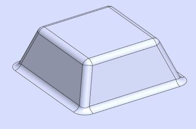 3-گوشه های شعاعی (اصول طراحی قطعات پلاستیک قالب تزریق)