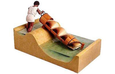 استفاده مکانیزم اولیه پیچ در مصر باستان